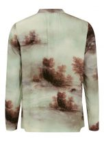 Misty Forest Long Sleeved Print Blousev