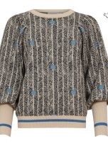 Sweater in Sprout Jacquard in Black