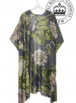Passion Flower Grey Throwover