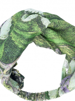 North Hydrangea Lime Green Headband