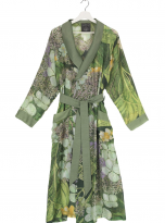 North Hydrangea Lime Green Dressing Gown