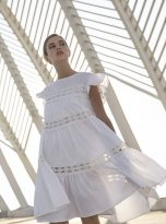 Embroidery Anglaise Devotion Twins Dress in Cream