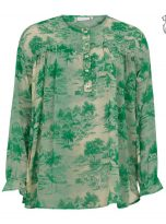 Blouse with Wallpaper Print